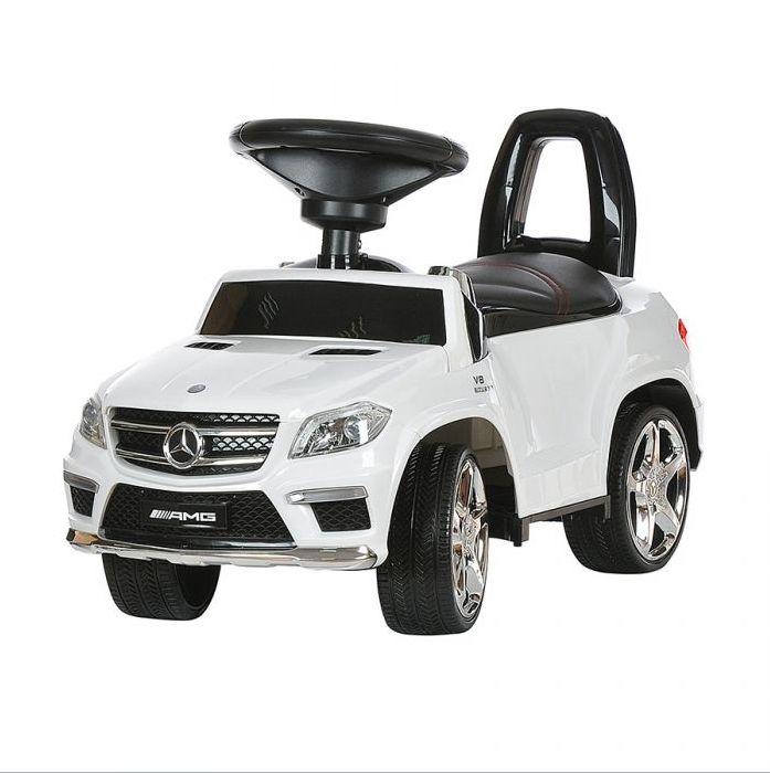 Каталка толокар Mercedes Benz GL63 AMG  свет, звук, кож.сиденье A888AA-D белый