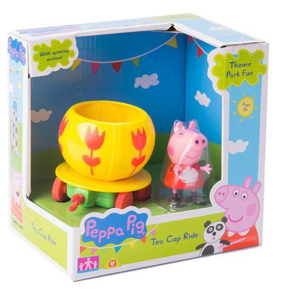 Peppa Pig Игровой набор Каталка Чашка с фигуркой Свинка Пеппа 30398