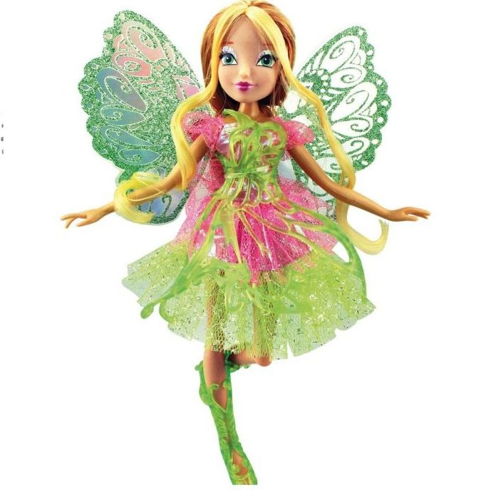 Кукла Винкс Флора Баттерфликс-2 Двойные крылья 28 см IW01251500