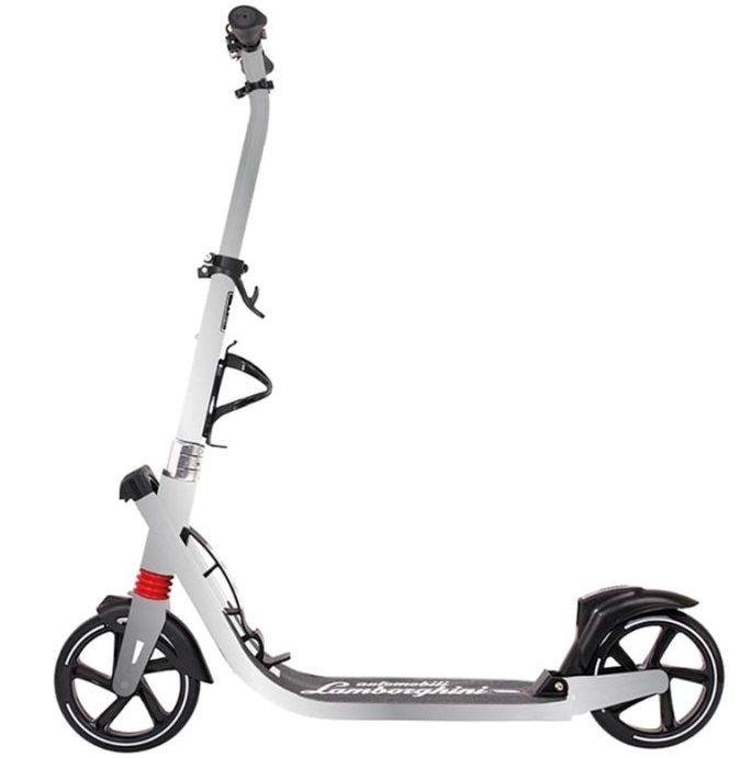 Самокат двухколесный Ламборджини LS6 колесо 200мм с амортизаторами серебро