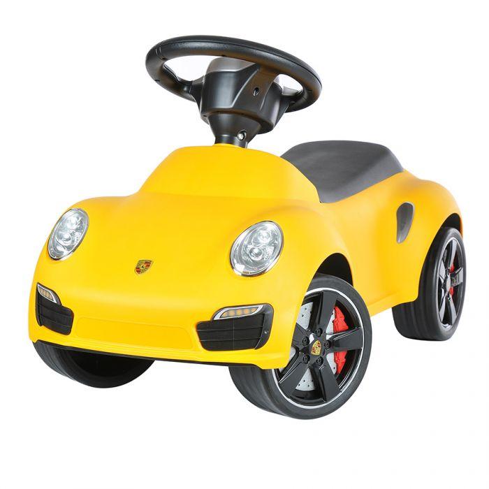 Детская машинка каталка Porsche 911 turbo S 83400 желтый
