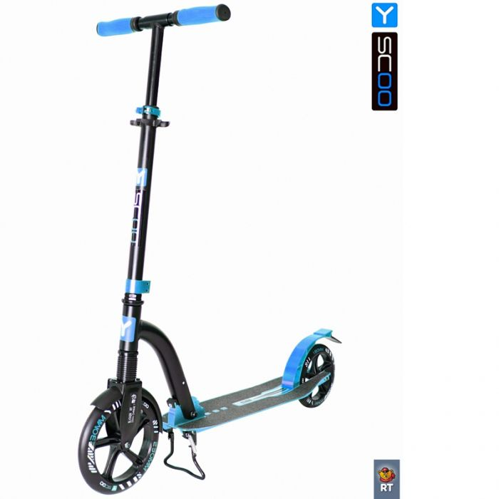 Самокат Y-scoo RT 230 Slicker deluxe new Technology с амортизатором blue