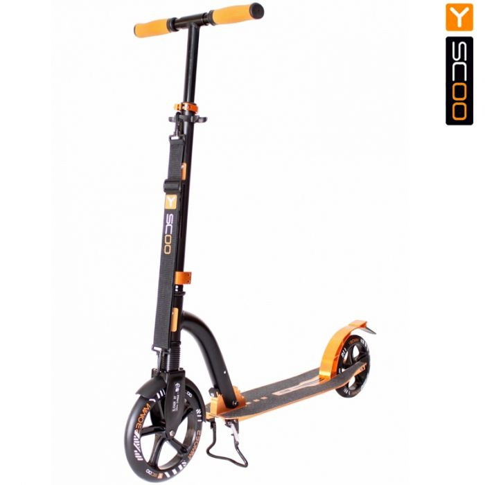Самокат Y-scoo RT 230 Slicker deluxe new Technology с амортизатором gold 5750