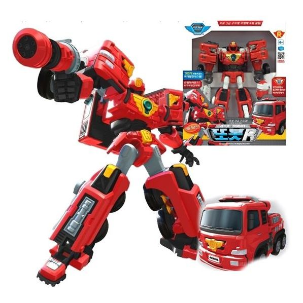 Трансформер Тобот спасатель Tobot R Пожарный с мега-пистолетом 301016