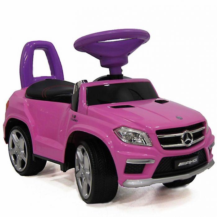 Каталка толокар Mercedes Benz GL63 AMG  свет, звук, кож.сиденье SXZ1578-A розовый