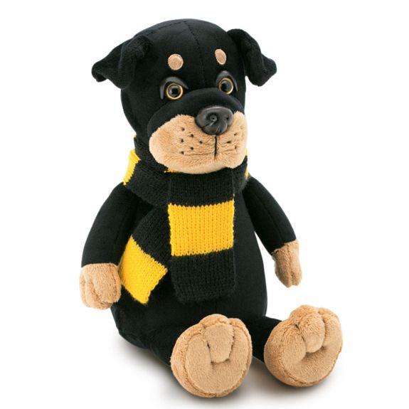 Мягкая игрушка Ротвейлер Бакс в шарфе 20см Orange 7649/20