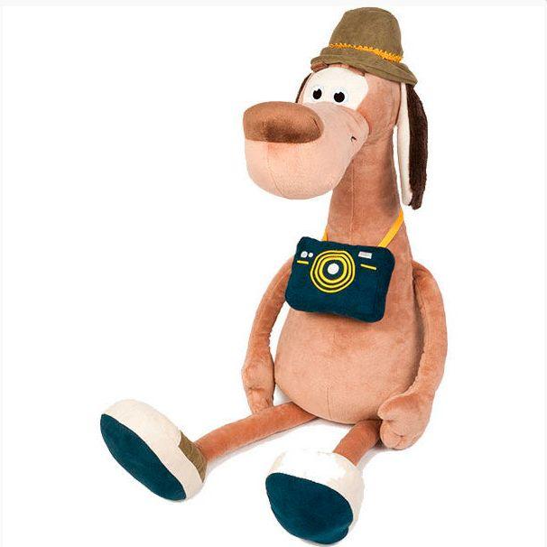 Мягкая игрушка Пес Барсбос с фотоаппаратом в шляпе 23 см MT-111603-23