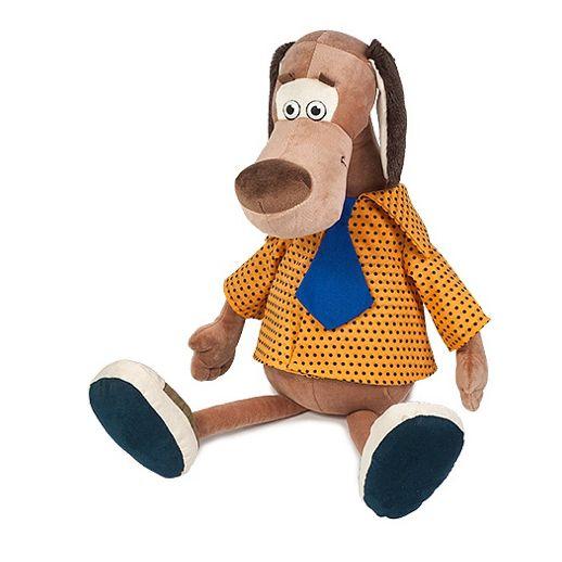 Мягкая игрушка Пес Барбос в рубашке с галстуком 23 см MT-111605-23