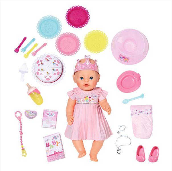 Кукла Беби Бон интерактивная Нарядная 43см Zapf Creation Baby born 825-129