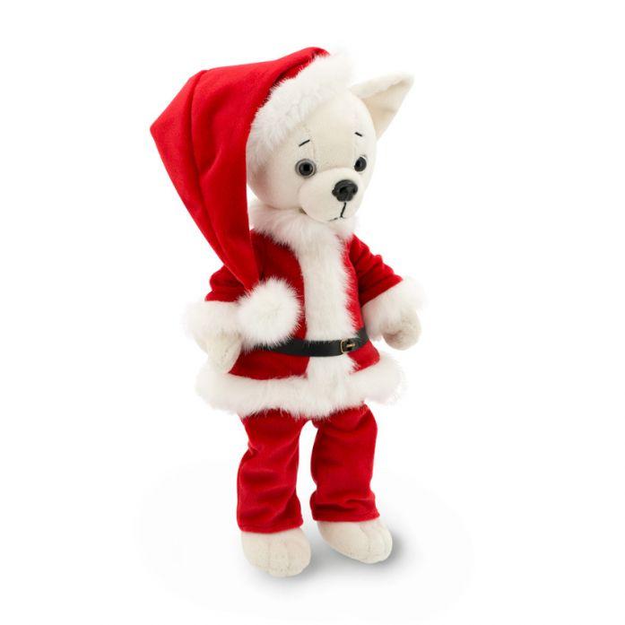 Мягкая игрушка Собака Чихуахуа Санта Lucky Oscar 35 см Lucky Doggy Оранж LD020