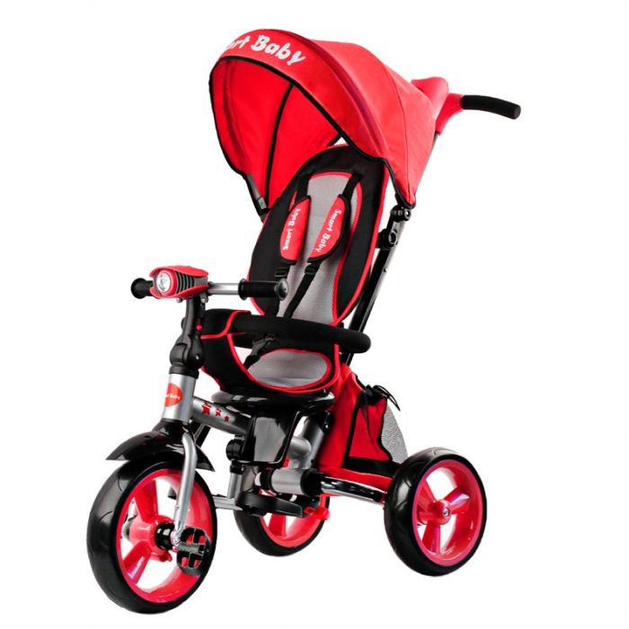 Трехколесный складной велосипед Smart baby TS2R красный