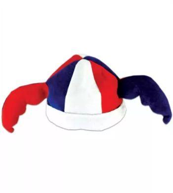 Колпак шутовской, шапка футбольного болельщика с рогами с рогами-крыльями Е40294