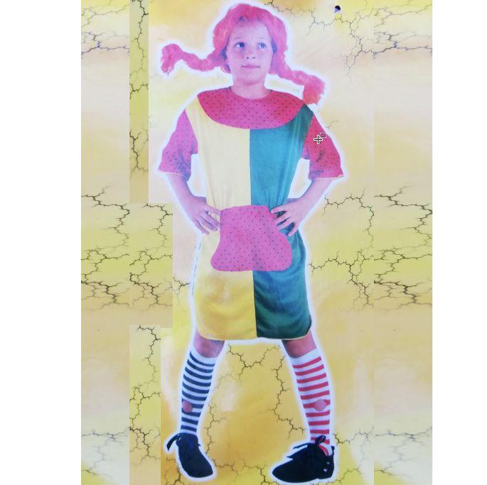 """Карнавальный костюм детский """"Пеппи длинный чулок"""" Е3388"""