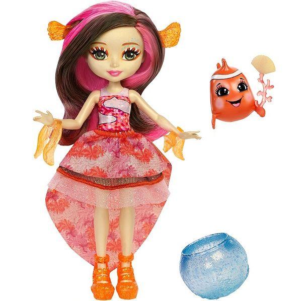 Enchantimals кукла Кларита и ее питомец рыбка Хихи FKV56