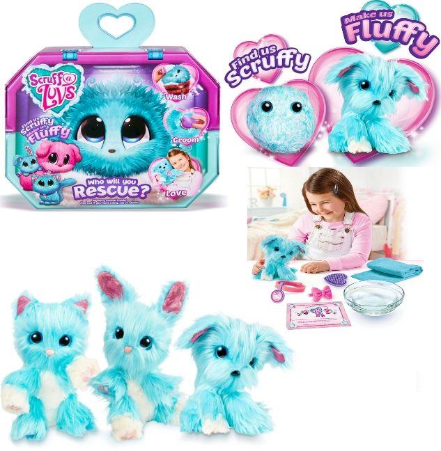 Scruff A Luvs Мягкая игрушка сюрприз пушистик-потеряшка 25 см 635SLA01 BLUE