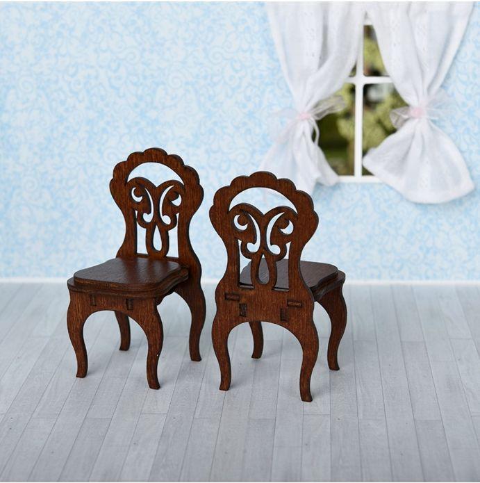 Мебель для кукол Одним прекрасным утром - Стулья 2шт 59408