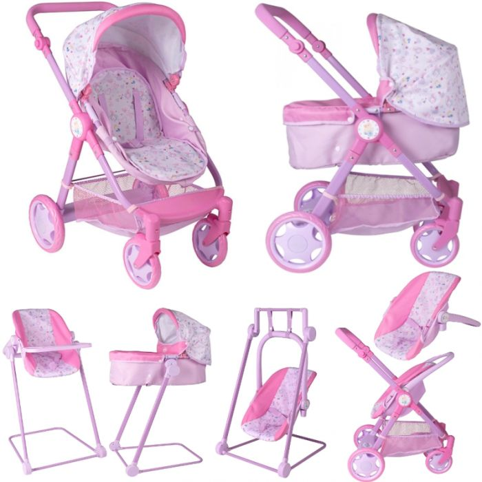 Беби Бон коляска для кукол трансформер 7 в 1 стульчик, качели и кресло Zapf Creation 1423578