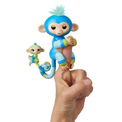 Интерактивная обезьянка с малышом Fingerlings Baby Monkey Billie & Aiden Blue Green