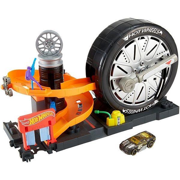 Хот Вилс Трек Сити Вращение колес Hot Wheels SUPER SPIN TIRE SHOP FNB17