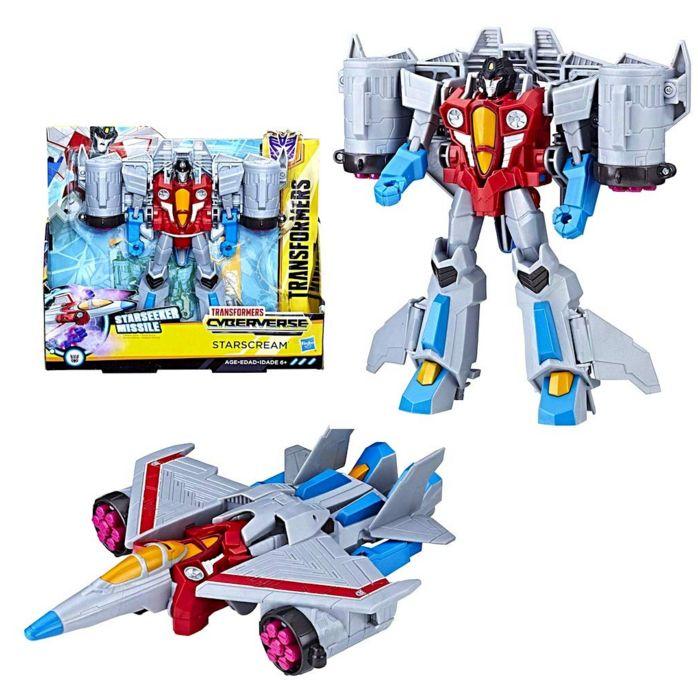 Трансформеры Кибервселенная Старскрим Starscream Transformers Hasbro 19 см E1886/E1906