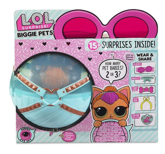 Кукла Лол большой питомец Кошка LOL Surprise Biggie Pet Neon Kitty 421061