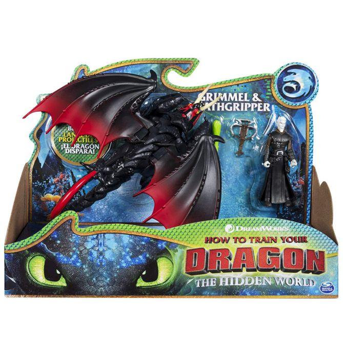 Dragons Как приручить дракона 3 Deathgripper and Grimmel Дракон Смертохват и викинг Гриммель 66621/3