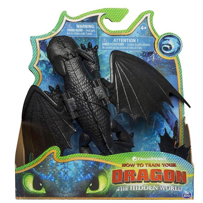 Dragons Toothless Как приручить дракона 3 Дракон Беззубик с подвижными крыльями 66620