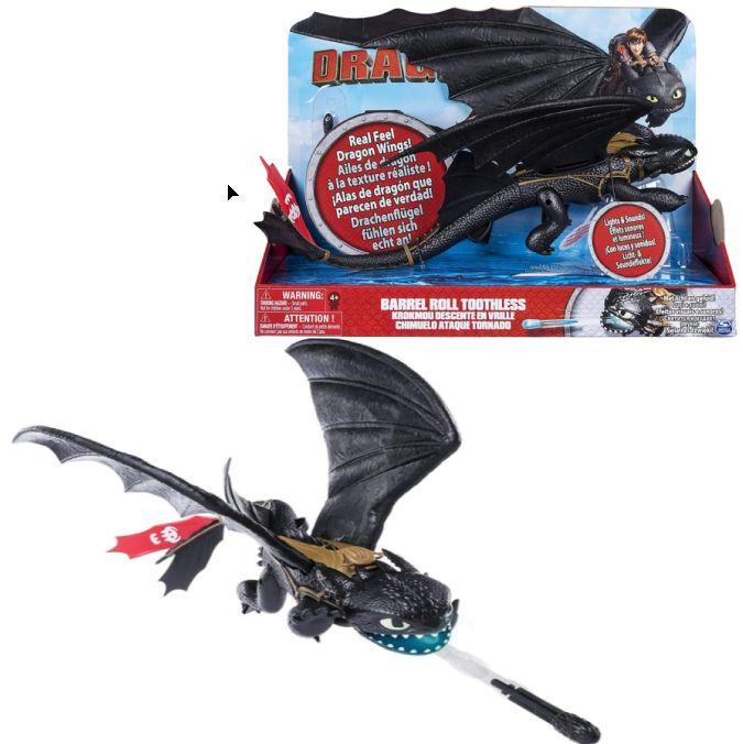 Dragons  Дракон Беззубик свет, звук и крутой поворот 43 см 66615