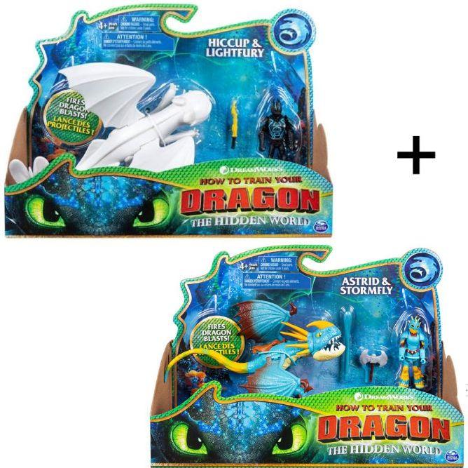 Dragons Драконы Lightfury and Hookfang Дневная фурия и Громгильда 66621