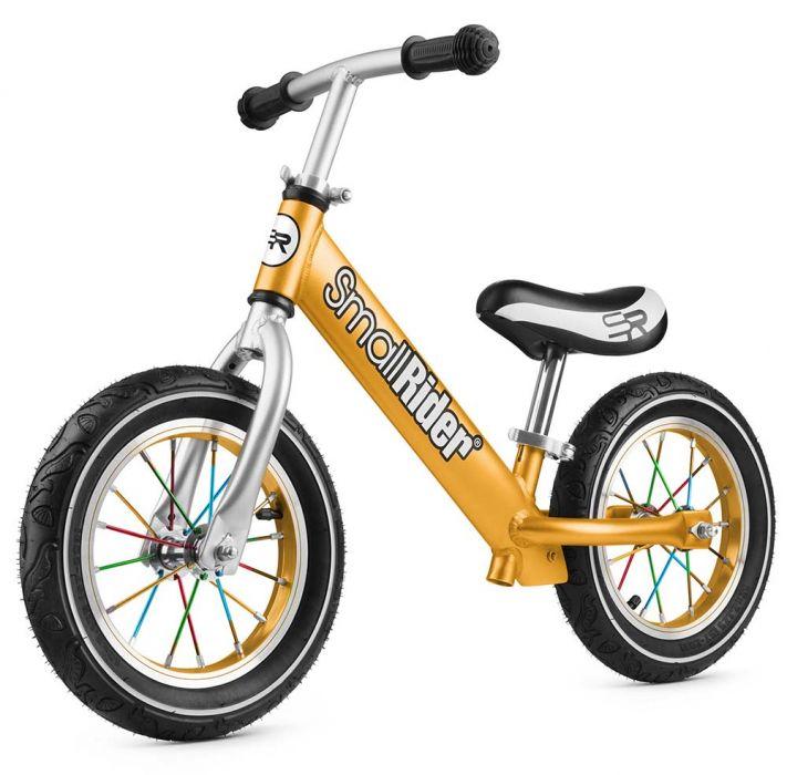 Беговел Small Rider Foot Racer 2 AIR алюминий, надувные колеса золото 1542843