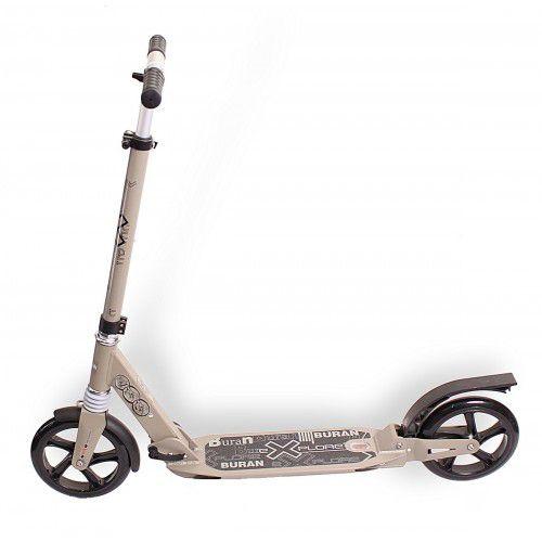 Самокат Explore  Buran Sport с амортизаторами серый