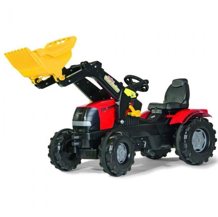 Rolly Toys Трактор педальный надувные колеса rollyFarmtrac John Deere 6210R  611126