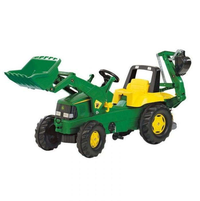 Rolly Toys Трактор педальный rollyJunior JD mit Heckbagger 811076 от 4-х лет