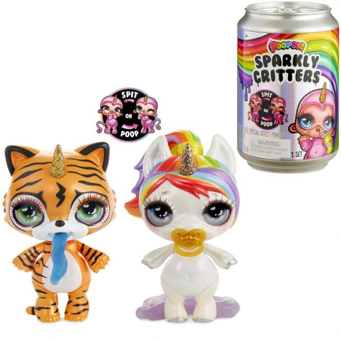 Poopsie Sparkly Critters Unicorn Surprise Pets Единорожки Пупси в банке газировки сверкающие 555780