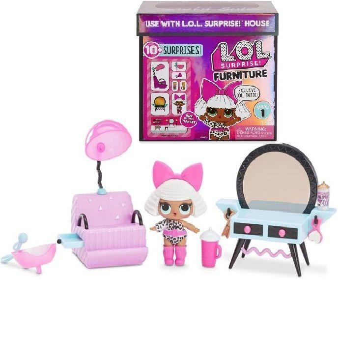 Лол мебель для кукол Lol surprise Furniture Salon with Diva 10 Surprise