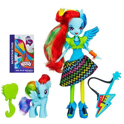 Кукла Райнбоу Дэш с пони Rainbow Dash My little pony Equestria Girls A3996/A6871