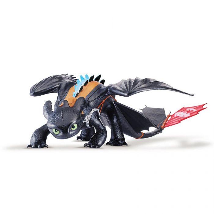 Игрушка Драконы 2 Беззубик Ночная Фурия большой 58 см Mega Toothless Alpha Edition Dragons 66591