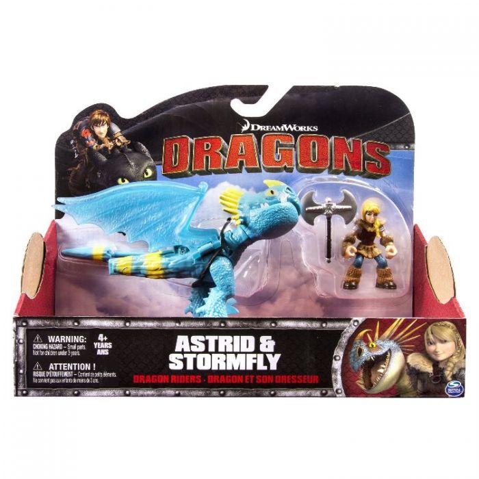 Игрушки Драконы Dragons 2 Набор из 2 фигурок: Астрид и дракон Громгильда 66594 /2