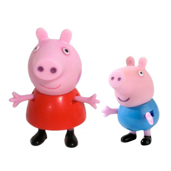 Игрушки Свинка Пеппа Peppa Pig набор из 2 фигурок Пеппа и Джордж 15568 /1