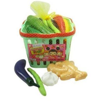 Игровой набор Овощей в корзинке 17 предметов в сетке 696j