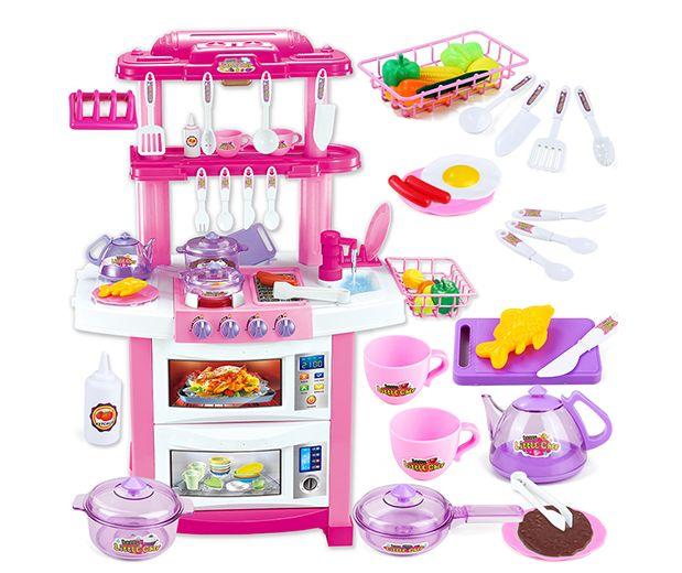 """Детская игровая кухня с водой 83 см """"Кухня как у мамы"""" 33 предмета 7116-2"""
