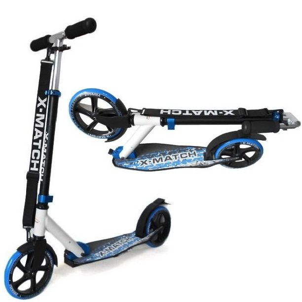 Самокат X-Match City складной, колесо 205мм синий