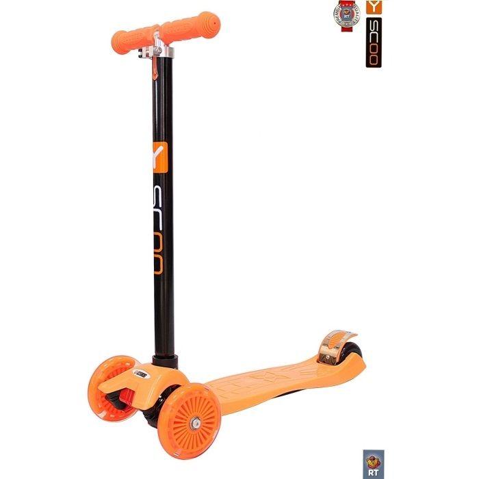 Самокат трехколесный Y-Scoo RT Maxi Shine A20 orange со светящимися колесами