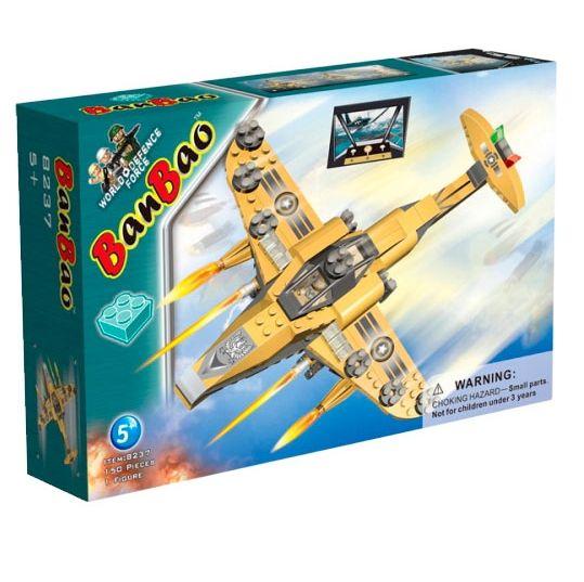 Banbao конструктор Самолет Штурмовик 150 деталей 8237
