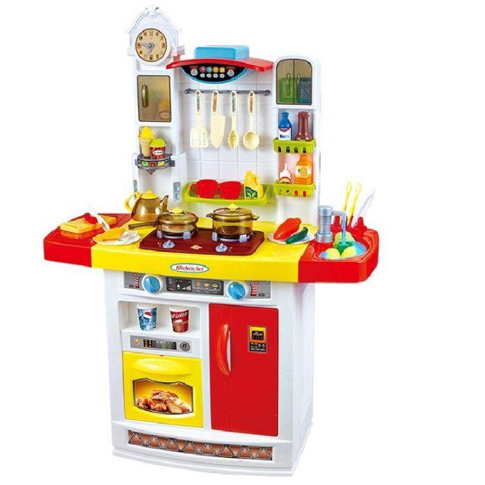 Игровая кухня с водой музыкальная 100 см красная 798A