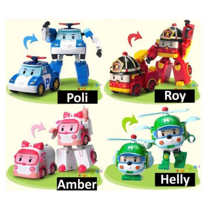 Робот-трансформер Robocar Poli 10см в ассортименте 908030