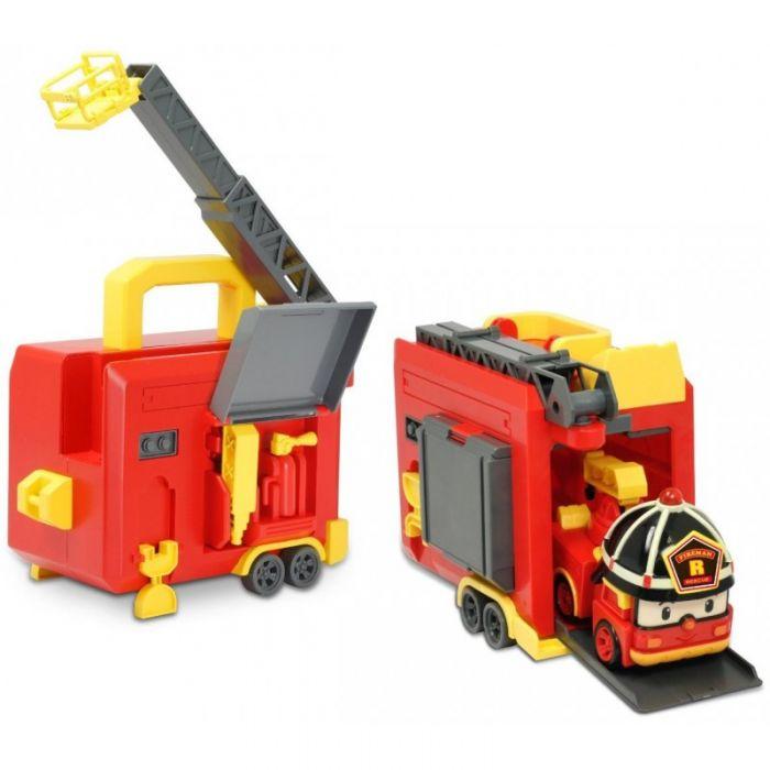 Робокар Поли Кейс-гараж с трансформером Рой 12,5 см Robocar Poli 83073