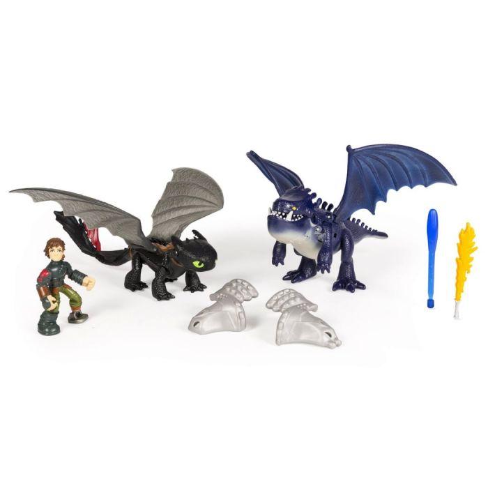 Игрушки Драконы Dragons 2 Набор из 3 фигурок: Иккинг, Беззубик, Бронированный дракон 66599/2