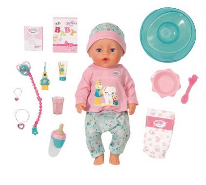 Интерактивная кукла Беби Бон Чистим зубки 43 см 827-086