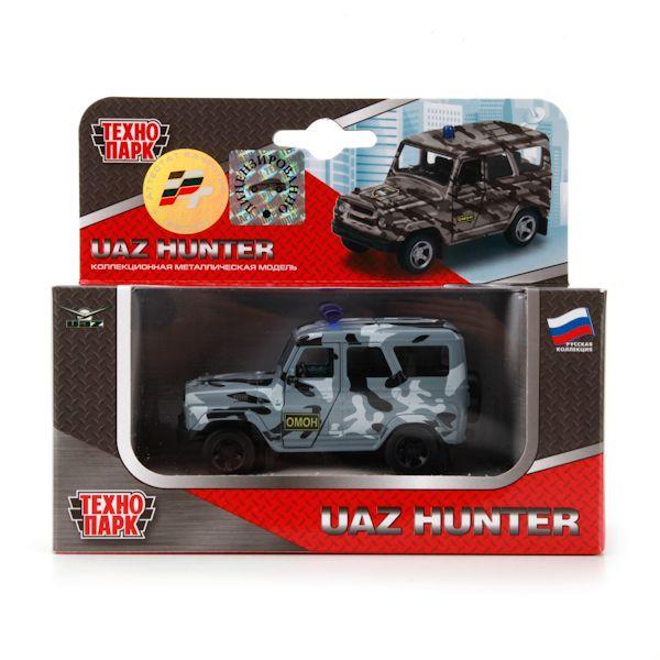Машина Технопарк металл инерц УАЗ HUNTER ОМОН X600-H09015-R
